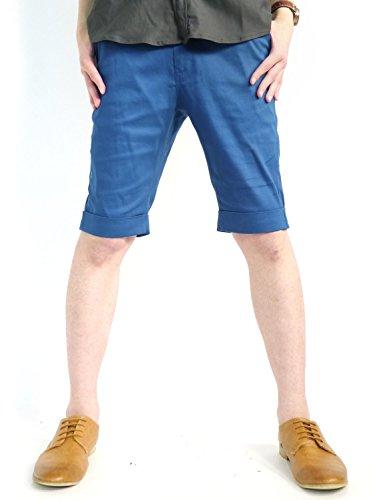 (オークランド) Oakland ストレッチ ツイル ショートパンツ 柄 サマー ブランド 高品質 カジュアル コットン デザイナーズ 夏 ブルーグリーン Lサイズ
