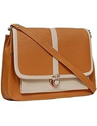 Borse A25 Tan And Beige Sling Bag