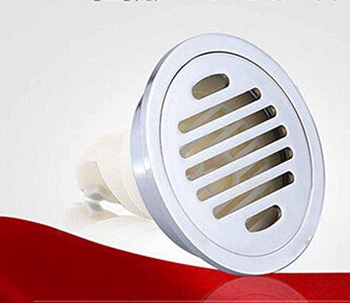 CU Mode et vidange résistant aux odeurs sol circulaire de diamètre léger chromé laiton vidange