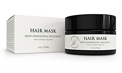 Hair Mask, Deep Conditioning Hair Repair. Organic & Natural Ingredients. 8oz. By Christina Moss Naturals