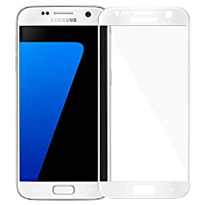 AMZER Kristal Tempered Glass HD Edge2Edge Screen Protector Shield For Samsung GALAXY S7 SM-G930F - White