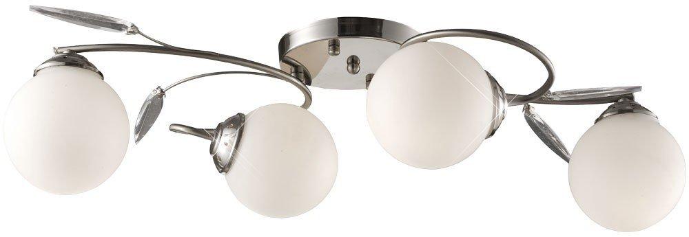 LED 12 Watt Deckenleuchte Deckenlampe Chrom Glas Decken Wohnzimmer   Bewertungen