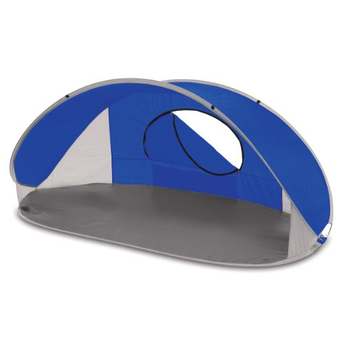 Portable Pop Up Shelters : Picnic time manta portable pop up sun wind shelter blue