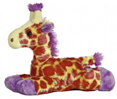 """Brights Purple Giraffe 8"""" by Aurora"""