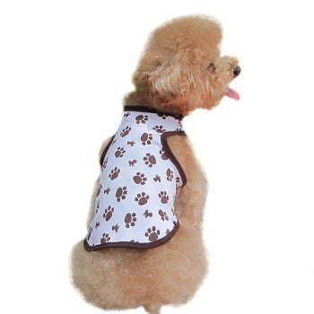 Brown Cotton Dog Puppy Pet Vest Waistcoat Apparel Costume Xl front-651388