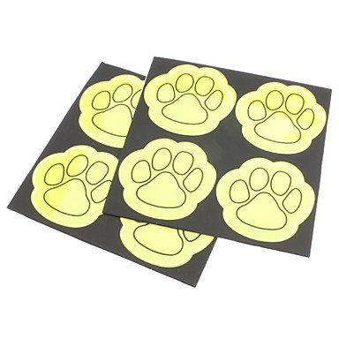 Xs Plastic Feet Pattern Reflective High Visibility Stickers