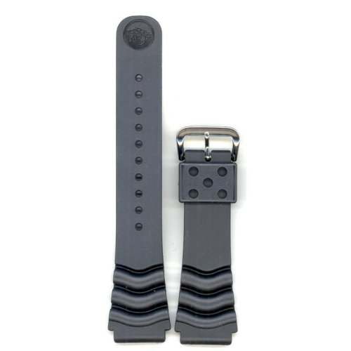 Genuine Original Seiko Diver Watchband 22 mm Black Includes 22mm Genuine Seiko Spring Bars