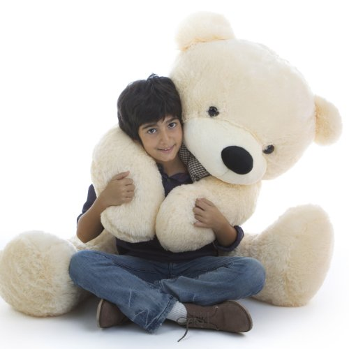 "Giant Teddy, Cozy Cuddles - 55"" - Very Cute & Cuddly, Vanilla Cream Plush Teddy Bear, By Giant Teddy front-785834"