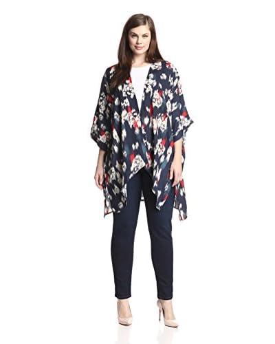 BB Dakota Plus Women's Astin Floral Print Kimono