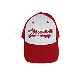 Red and White Budweiser Baseball Cap