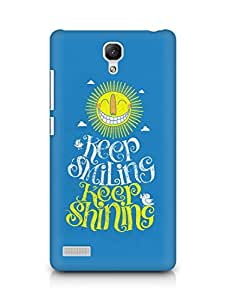 Amez designer printed 3d premium high quality back case cover for Xiaomi Redmi Note 4G (Keep Smilling)