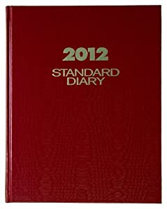 AT-A-GLANCE Standard Diary, Recycled Daily Diary, Red, 2012 (SD374-13)