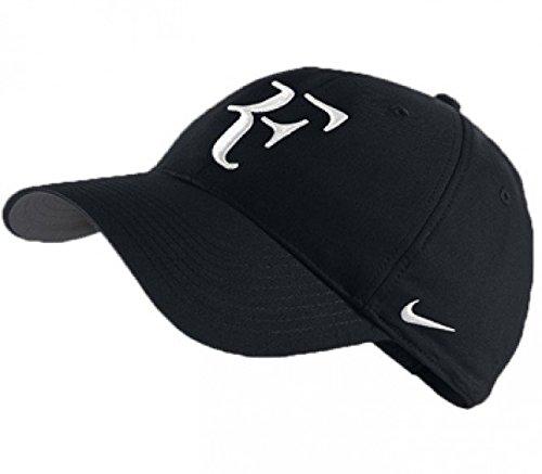 Mens Nike Roger Federer RF Hybrid Adjustable Hat Black/Flint Grey/White 371202-010 (Roger Federer Cap compare prices)