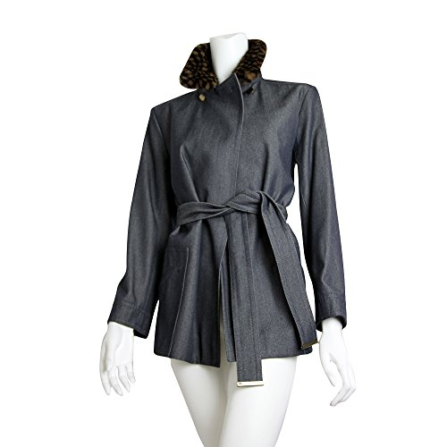 Louis Vuitton Denim Semi long jacket FR38 with Mink Fur (Louis Vuitton Clothes compare prices)
