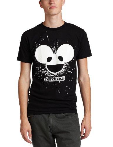 Fea Merchandising Men'S Deadmau5 Burst Mau Logo Glow Lightweight Tee, Black, Small