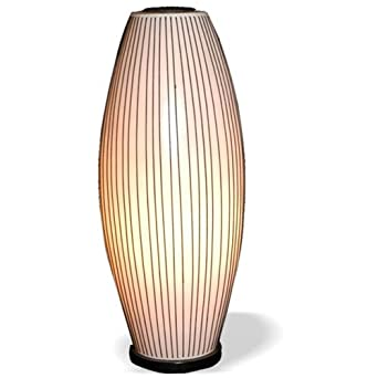 varo large table lamp w wicker accents wood base. Black Bedroom Furniture Sets. Home Design Ideas
