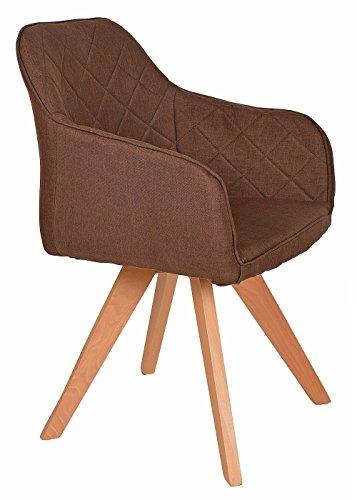 ts-ideen-Lounge-Design-Sessel-Barsessel-Clubsessel-Stoff-in-Braun-Esstisch-Stuhl-Fe-aus-Buchenholz