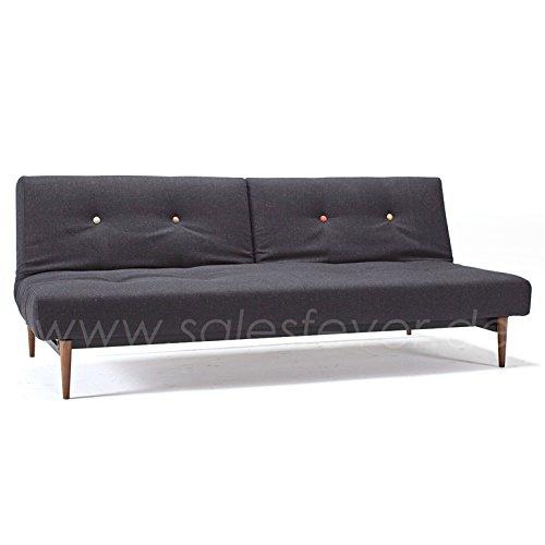 Innovation Schlafsofa mit Holzbeinen Styletto Fiftynine schwarz dunkle Beine