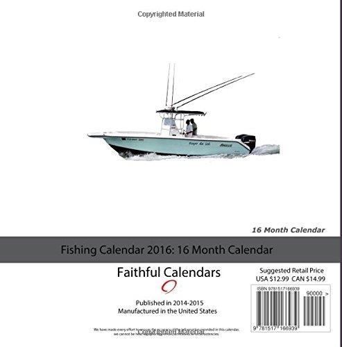 Fishing Calendar 2016: 16 Month Calendar