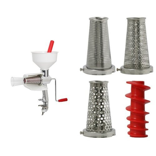 VICTORIO VKP250 Food Strainer and Sauce Maker and VICTORIO VKP250-5 Four-Piece Accessory Pack for VKP250 Food Strainer Bundle (The Five Sauces compare prices)