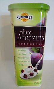 Sunsweet Plum Amazins Diced Dried Plums