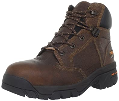 Men's 6 inch Timberland Pro Helix WATERPROOF Safety Toe Boots Brown, BROWN, 5M