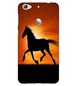 ColourCraft Magnificent Horse Design Back Case Cover for LeEco Le 1S