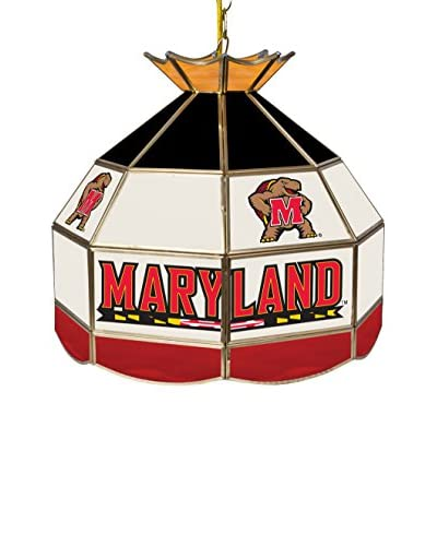 Trademark Global 16 Maryland University Stained Glass Tiffany-Style Pendant Lamp