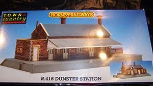 HORNBY RAILWAYS E.418 DUNSTERS STATION 00 GAUGE SCALE MODELS