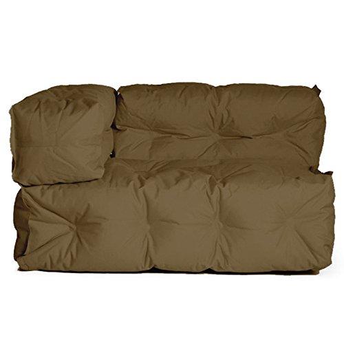 Sitting Bull 130359 Sofa Couch II / Armlehne Links / Outdoor / 127-155 x 89 x 73 cm / schwarz