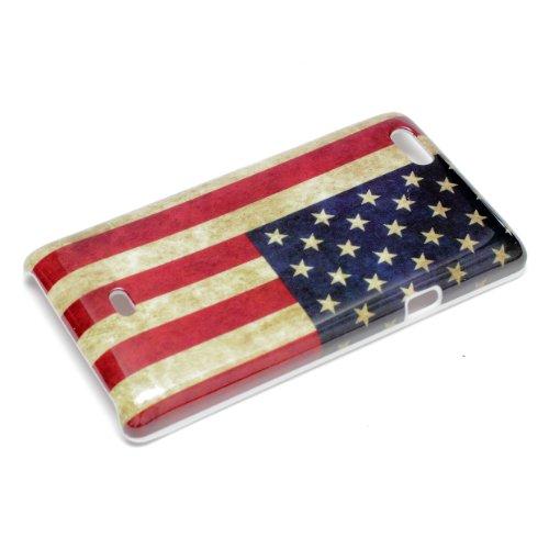 deinPhone Sony Xperia Miro ST23i HARDCASE Hülle Case Retro Flagge USA