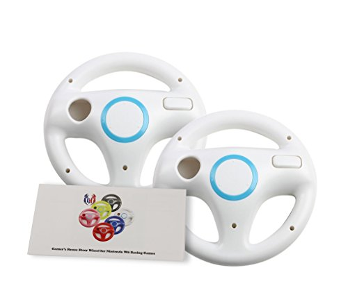 2Pcs Mario Kart Racing Wheels, Wii Wheel for Racing Games - Original White (6 Colors Available) (Steering Wheel Play 2 compare prices)