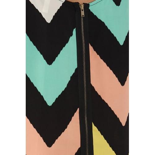 BACK IN STOCK: Nanette Chevron Dress in Pastel - Medium