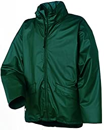 Helly Hansen Work Jacket Mens Voss Polyester 3XL Dark Green 70180