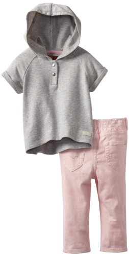 #1 7 For All Mankind Baby-girls Infant Hoodie/Jean Set, Heather Grey/Belladona, 24 Months  Review