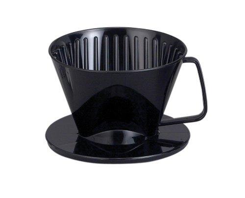 Plastic Coffee Maker Filter Cone #2 Medium Black, Set Of 3