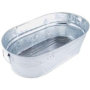 Galvanized Oval Wash Tub, 3.7 Gal