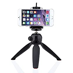 Mini Tripod + Universal Holder Clip, DMG Yunteng 228 for Digital Camera & iPhone 6 Plus 6 5S 5C 4S & Samsung Smartphones and Yunteng Selfie Sticks