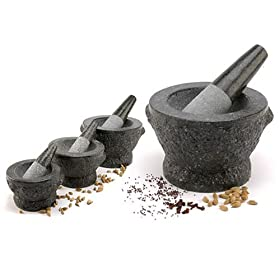 Large 8 inch Thai Granite Mortar and Pestle
