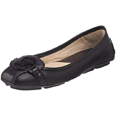Michael Michael Kors Women's Fulton Ballet Flat,Black Leather,5 M US