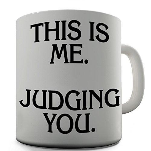 Judging You Funny Design Novelty Gift Tea Coffee Office Mug