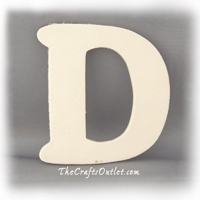 The Crafts Outlet Unfinished Plywood Plaque, Letter D, 3-1/4-Inch Width with 1/4-Inch Thickness