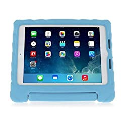 Apple iPad Air - iPad Air 2 - Gumdrop Cover Case - Kids Lightweight Protective Carrying Case with Handle & Stand - Foam Tech - Blue