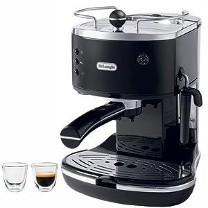 Icona 15-Bar Pump Driven Semi-Automatic Espresso Machine and 2 Espresso