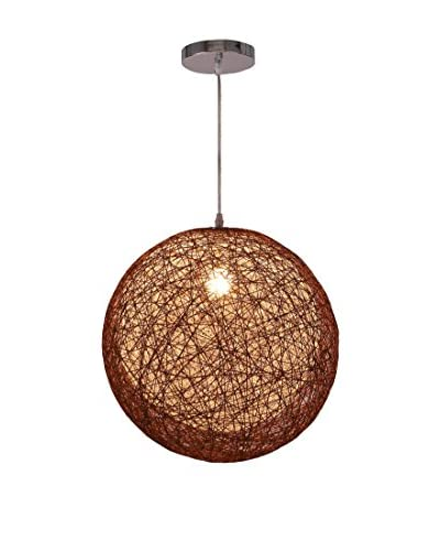 International Designs Rondure Ceiling Light, Brown/White