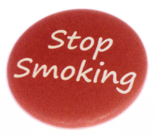 A&T Designs Unisex – Stop Smoking 1.25″ Pinback Button Badge / Pin