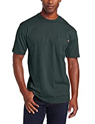 Dickies Men\'s Big-Tall Heavyweight Crew Neck Short Sleeve Tee, Hunter Green, 3X-Large/Tall
