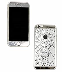 I PHONE 6S PLUS 3D COLORED GLASS FRONT & BACK SILVER