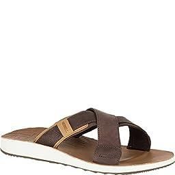 Merrell Men\'s Duskair Slide Sandal, Scotch, 9 M US
