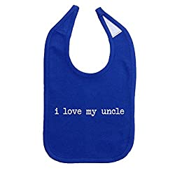 Mashed Clothing Unisex-Baby I Love My Uncle Cotton Baby Bib (Royal)